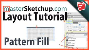 sketchup layout line color sketchup pro layout pattern fill tutorial youtube