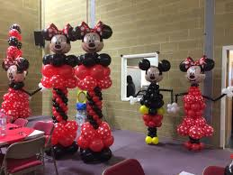 mickey mouse decorations jojofun balloon decorations minniemouse mickeymouse columns