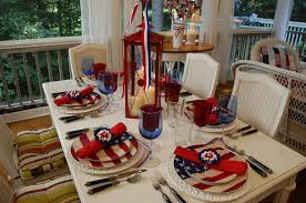 4th of july home decor 4th of july table setting