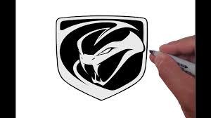 dodge viper logo how to draw the dodge viper logo
