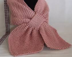 knitting pattern bow knot scarf bow scarf etsy