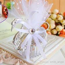 wedding candy favors wedding favor boxes acrylic swan shaped wedding gift candy favor