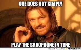 Sax Meme - tuning your sax saxophones united