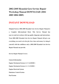 2002 2005 hyundai getz service repair workshop manual download 2002 u2026