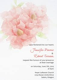 cheap coral watercolor flower wedding invitations ewi375 as