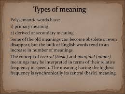 Types Meaning