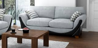 3 Seater And 2 Seater Sofa Joker 3 Seater Grey Black Sofa Fabric Sofas