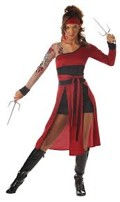 Ninja Halloween Costumes Japanese Tigress Ninja Warrior Street Fighter Kung Fu Teen