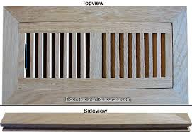 unfinished wood floor registers air vent