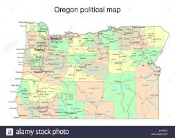 state map oregon oregon map
