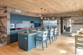 kitchen paneling backsplash kitchen paneling interior wood rustic with blue cabinetry island