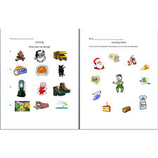 six worksheets to introduce camping help preschoolers explore the