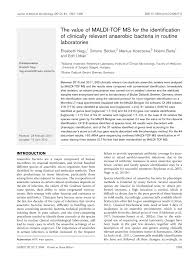 microbiology society journals the value of maldi tof ms for the