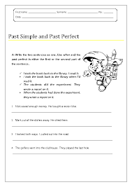 past perfect tense worksheet free worksheets library download