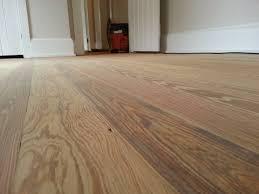 Heart Pine Laminate Flooring Freshly Sanded Heart Pine Floor 120 Year Old Floor Ready For