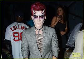 adam lambert hosts halloween party dresses as ghoulish devil