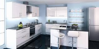 modele cuisine blanc laqué amusing modele cuisine noir et blanc gallery best image engine