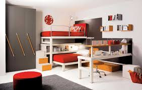 Red Kids Desk by Floating Beds For Kids