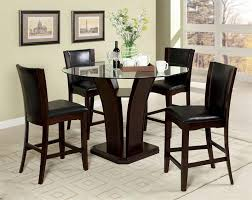glass counter height table sets inspiring 48 manhattan round glass counter height dining table set