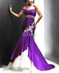 purple wedding dresses 2015 white fashion sleeveless color accented applique gown