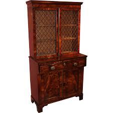 Maddox Tables Secretary Desk by English Regency Mahogany U0026 Ebony Secretary Desk U0026 Bookcase From