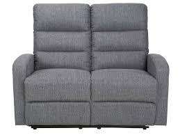 canap relax 2 places tissu canapé fixe relaxation manuel 2 places en tissu cielo coloris gris