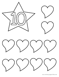 bookmark number names worksheets number 10 coloring pages number