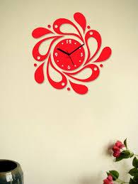 designer wall clocks online india buy red designer flower wall clock by zeeshaan online shopping