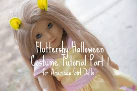 halloween doll wig fluttershy halloween costume for american doll part 1 youtube