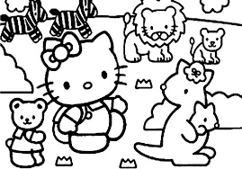coloring pages printable cartoon kitty coloring sheets
