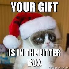 Cat Christmas Memes - grumpy cat christmas meme 004 in the litter box grump cat