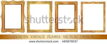 Art Frame Design Gold Photo Frames Corner Thailand Line Stock Vector 503456989
