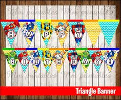 printable transformers birthday banner printable transformers rescue bots birthday by creativepartystudio