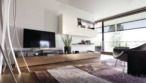 Contemporary Architecture Characteristics by Contemporary Tv Wall Unit Lacquered Wood Walnut Glossy