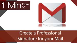 1 min how to add a professional signature to gmail youtube
