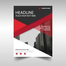 red geometric corporate brochure template vector free