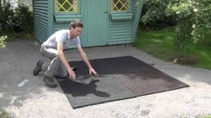 Recycled Rubber Patio Tiles by Outstanding How To Install Rubber Tiles In Patio Or Play Areas