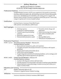 Examples Of Medical Assistant Resumes A Good Objective For A Medical Assistant Resume Clinical