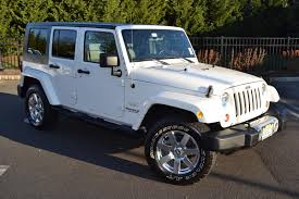 jeep rubicon white 2010 jeep wrangler unlimited sahara pre owned