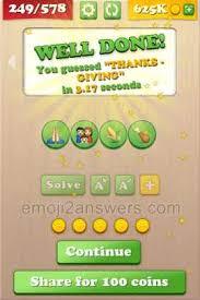 emoji 2 thanks giving level 249 emoji 2 answers