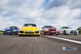 nissan gtr vs porsche 911 m6 f13 competition vs 911 turbo s vs nissan gt r black edition vs