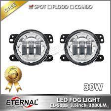 Jk Led Fog Lights 30w 3 5in Led Fog Light For 4x4 Offroad Jeep Wrangler Jk 07 15