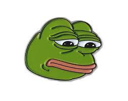 Frog Face Meme - sad pepe the the frog lapel pin co uk jewellery