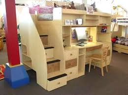girls bunk beds with desk loft bed teenage bunk bed with desk