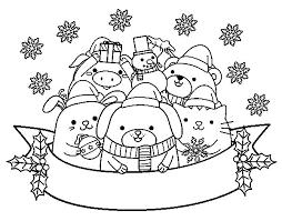 dibujos navideñas para colorear dibujo de animalitos navideños para colorear dibujos net