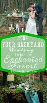 turn your backyard into an enchanted forest wedding forest