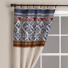 Crate And Barrel Curtain Rods Decor Stripes Jute Curtain Panel World Market