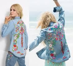 hippie style women embroidery hippie style denim shirts floral boho jackets