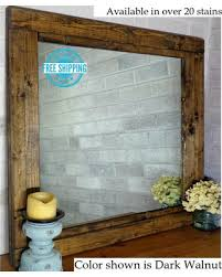Rustic Vanity Mirrors For Bathroom by Spring Into Savings On Free Shipping Farmhouse Reclaimed Wood
