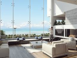 modern low profile coffee tables living room ocean view cannes villa living room features modern
